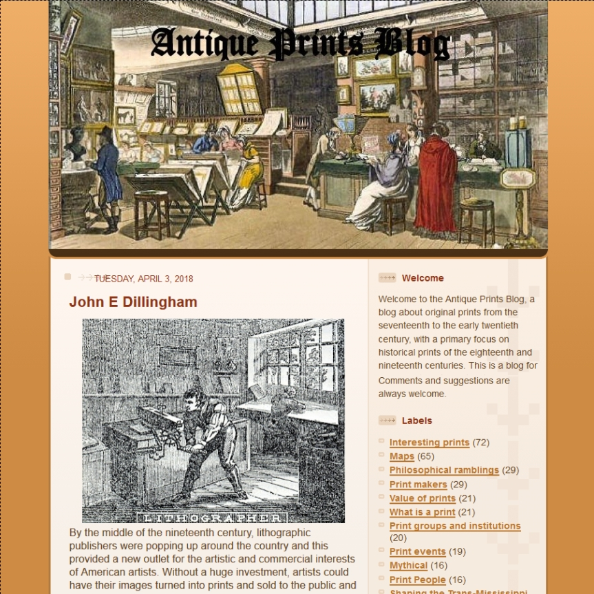 Antique Prints Blog Screenshot