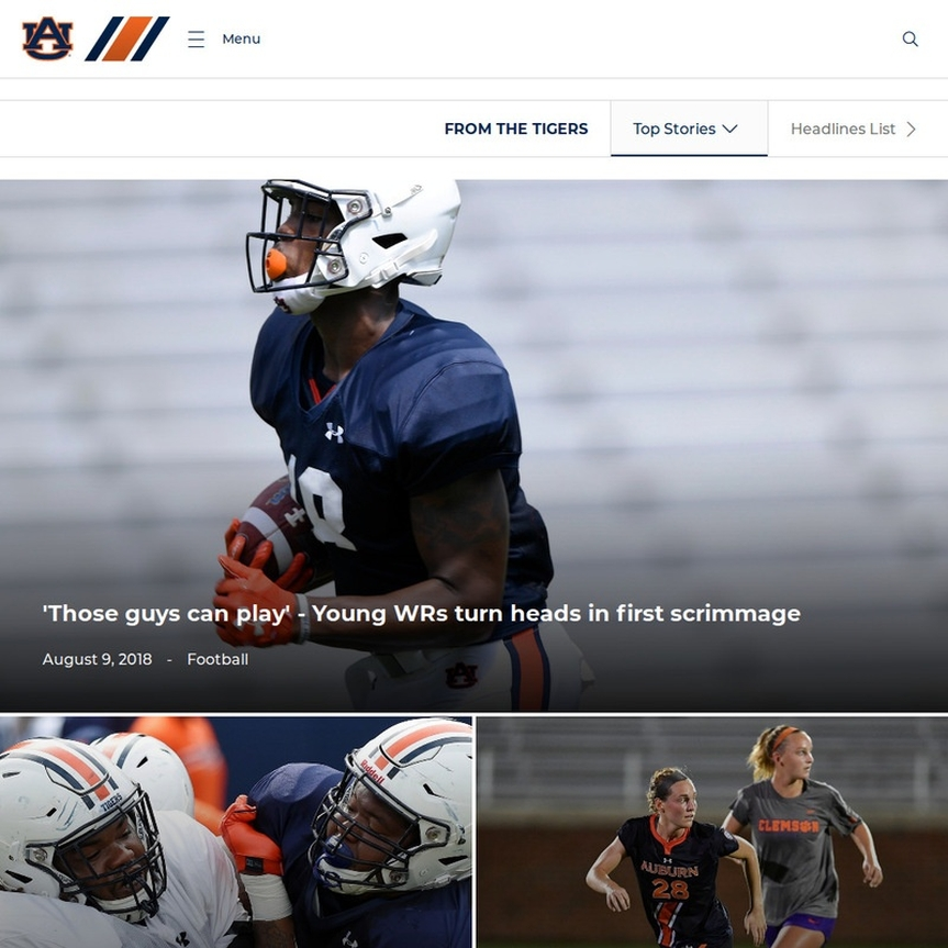 Auburn Tigers Website Screenshot
