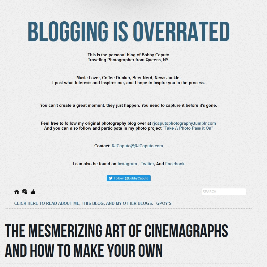 Blogging Is Overrated