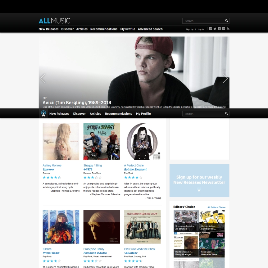 AllMusic Website Screenshot
