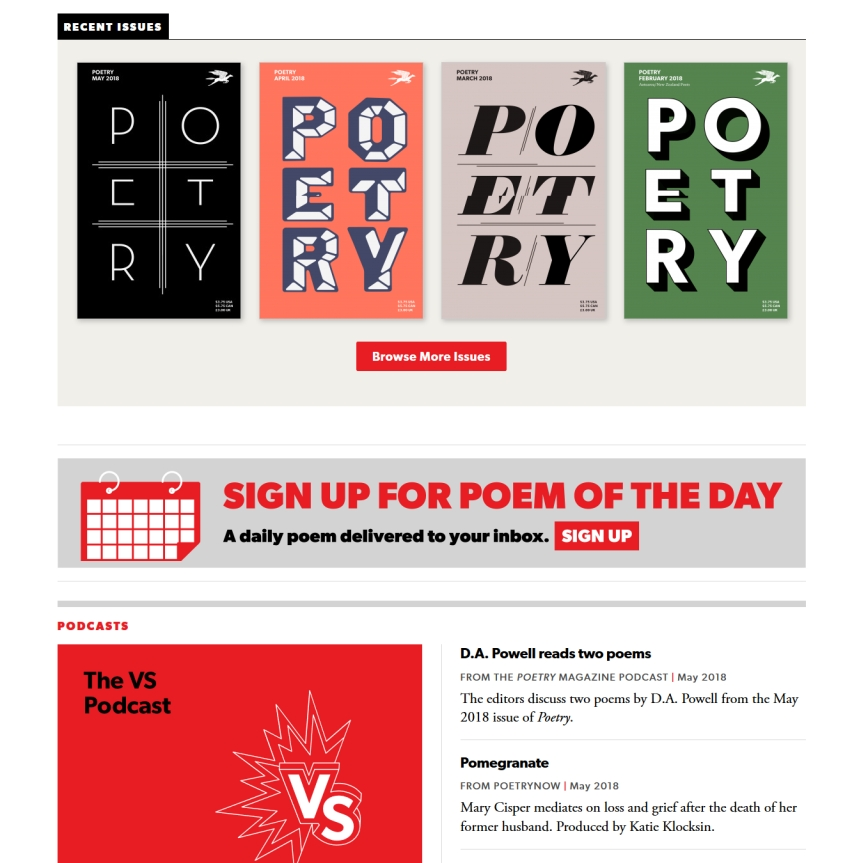 Poetry Foundation Website Screenshot