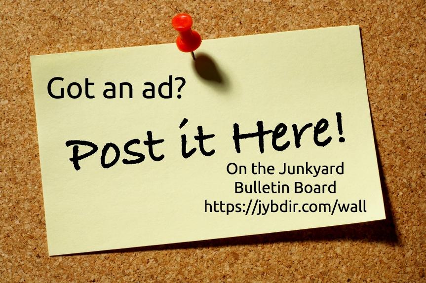 Junkyard Ads Bulletin Board on The Wall