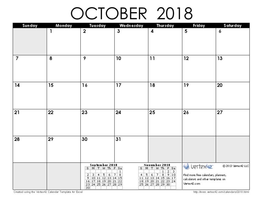 2018 October