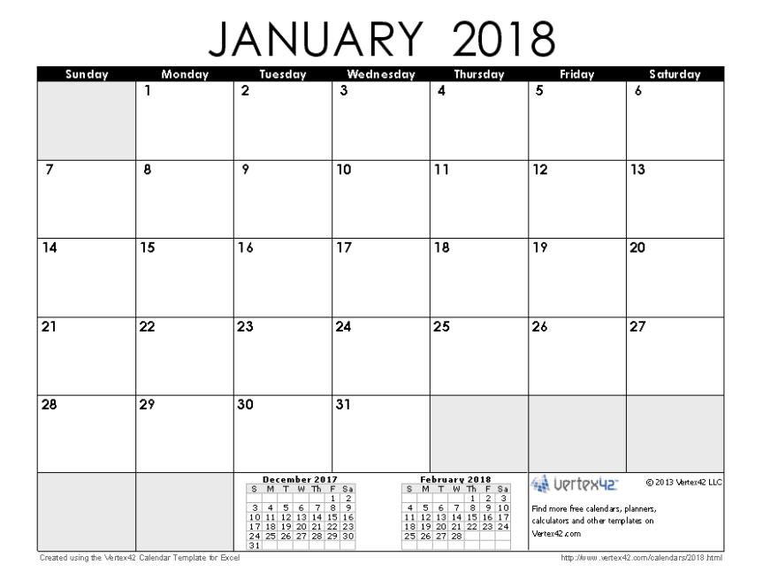 2018 January