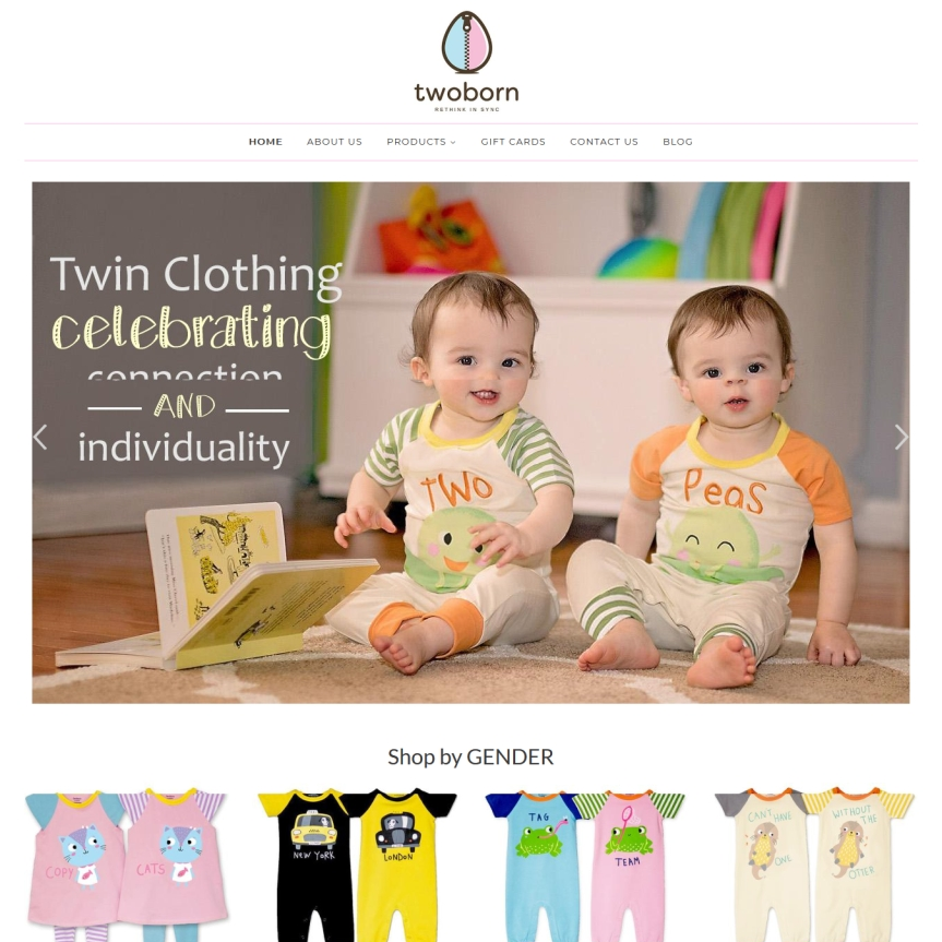 Twoborn Clothing Brand For Twins