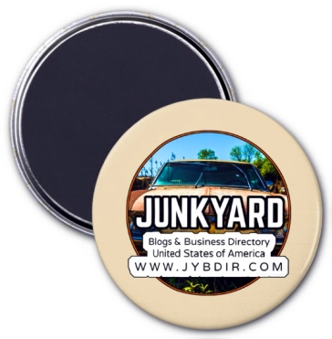 Junkyard Blogs & Business USA Directory Official Round 3 Inch Magnet In Beige