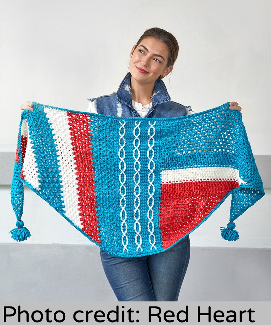 Abstractly Chic Shawl Crochet-Along From Red Heart